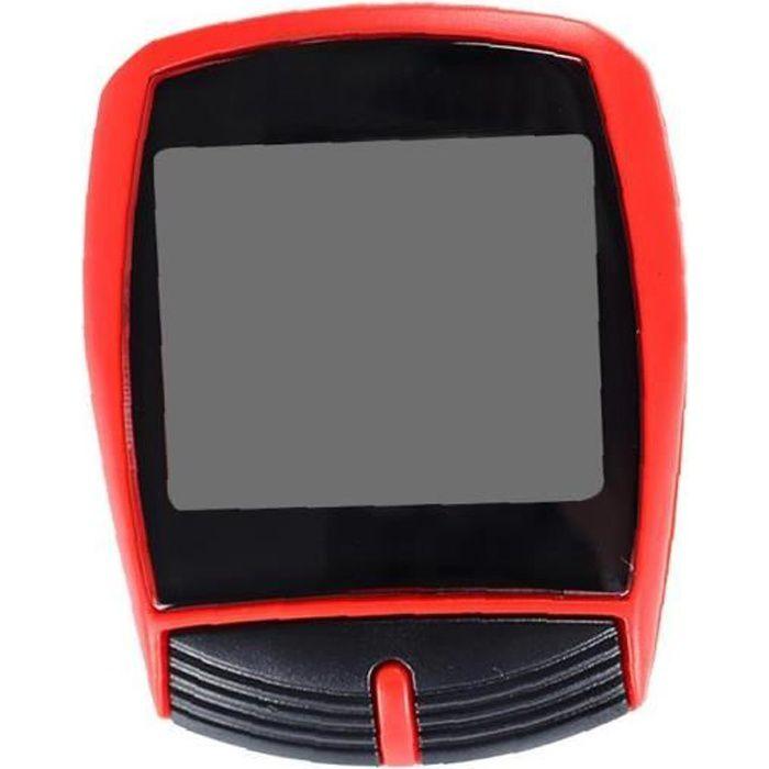 Compteur de vitesse de vélo compteur de vitesse de vélo de vélo de vélo de vélo avec écran de rétroéclairage LCD