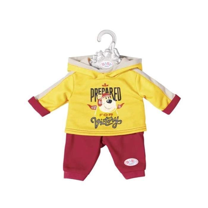 Accessoire pour poupée Zapf Creation 826676-A Baby born Combinaison de loisirs jaune-bordeaux 43 cm