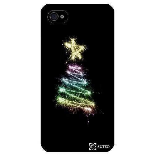 Coque Iphone 4/4S – Sapin de noël lumineux - ref 813 - Achat coque ...