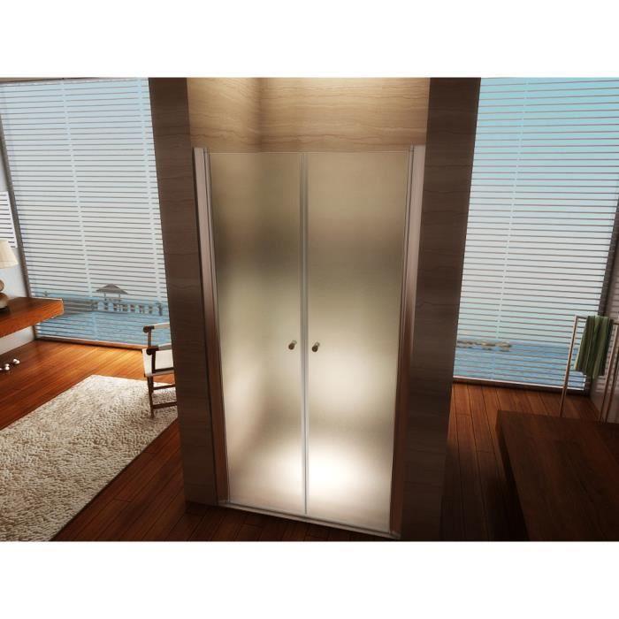 Porte de Douche 195 cm Largeur r/églable 68-72 cm Transparent