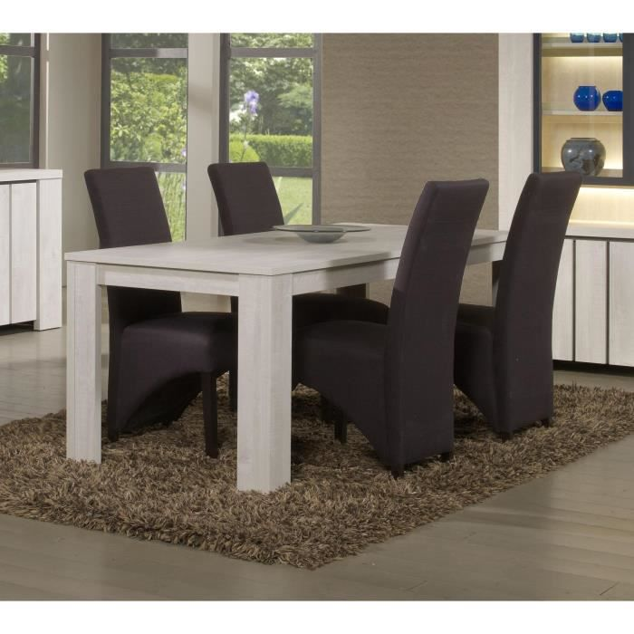 Table de salle manger chic table l 140 x p 140 cm x for Table salle a manger 70 cm