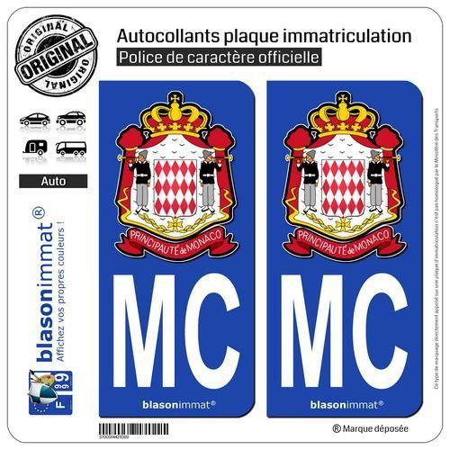 blasonimmat 2 Autocollants Plaque immatriculation Auto 68 Alsace Logotype