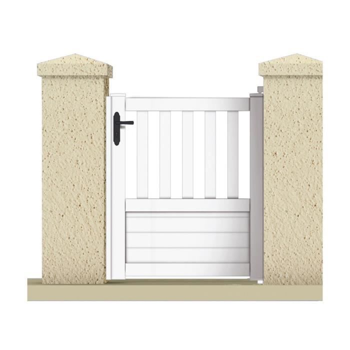 Portillon jupiter 1 05 m pvc coloris blanc achat for Portillon en pvc pas cher