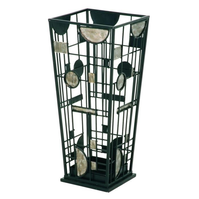 porte parapluie swithome kalista noir et argent achat vente porte parapluie porte parapluie. Black Bedroom Furniture Sets. Home Design Ideas