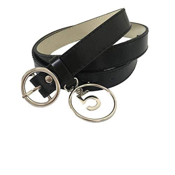 Ceinture Jeans Belt Noir Pantalon Ceinture Hommes Ceinture 2,8 cm Large Boucle Métal