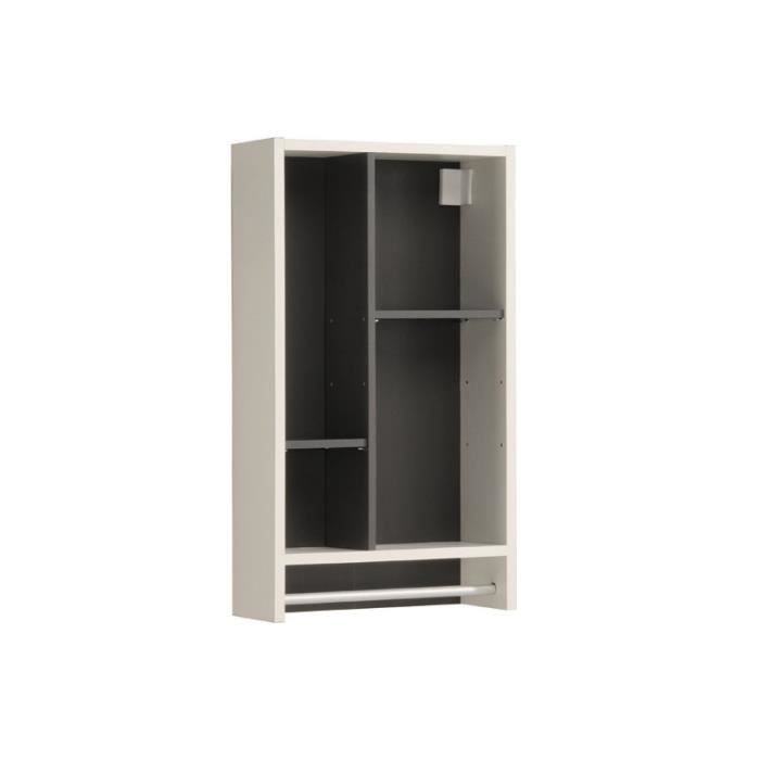 paris prix niche murale verzak 70cm gris achat. Black Bedroom Furniture Sets. Home Design Ideas