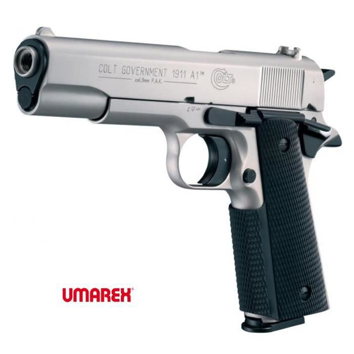 Colt 1911 a1 nickel arme de d fense cal 9mm p a k achat for Arme defense maison
