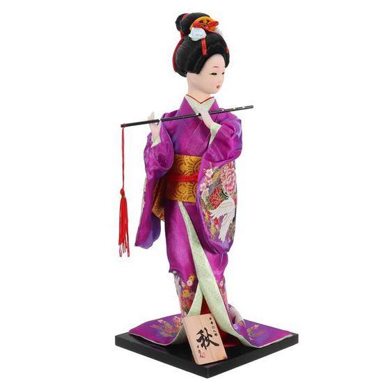 05 Baoblaze Poup/ée Antique Geisha Japonaise Kimono Figurine Exquise Id/éal Cadeau pour Enfant Fillette