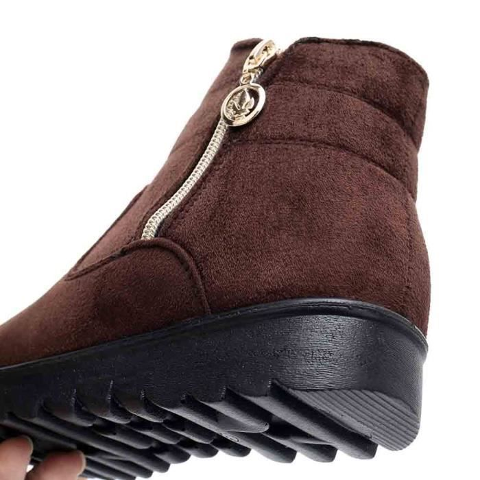 Femme Casual Femmes Hiver Chaud Bottine Neige Chaussures Moyen Bottes yunsoel2208 aged Boot Bwqtwpf