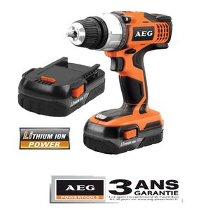PERCEUSE Perceuse sans fil AEG, 2 batteries Lithium-ion 18V