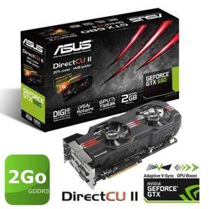 CARTE GRAPHIQUE INTERNE Asus GeForce GTX680 2Go GDDR5 DirectCU II