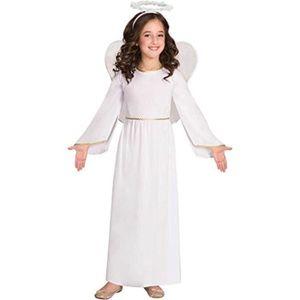 ANGEL S - Costume d/'ange robe fantaisie Filles Nativité Costume Kids manches longues