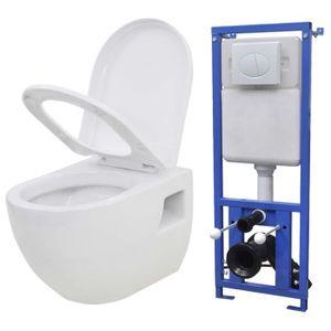 WC - TOILETTES FIHERO- Toilette murale avec réservoir de chasse c