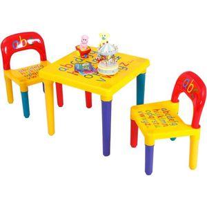 TABLE ET CHAISE Ensemble Table et 2 Chaises pour Enfant Table d'ac