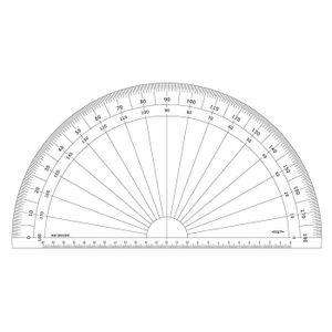 RAPPORTEUR - COMPAS Graphoplex GX230D Rapporteur 1-2 cercle Transparen