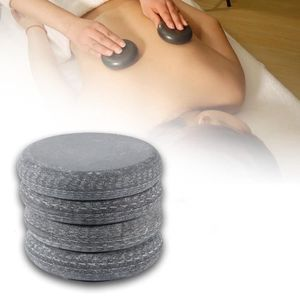 APPAREIL MASSAGE MANUEL 4Pcs-Set Basalte SPA Pierre de Massage Chaud Dos É