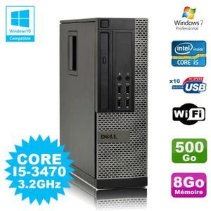 UNITÉ CENTRALE + ÉCRAN PC DELL Optiplex 790 SFF Core I5-3470 3.2Ghz 8Go D