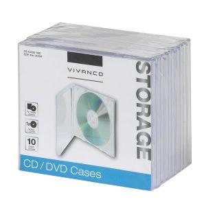 RANGEMENT CD-DVD Vivanco 31694, Boîtier double, 1 disques, Transpar