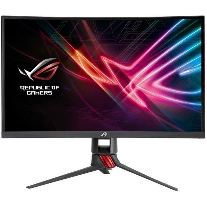 ASUS ROG Strix XG27VQ Écran LED incurvé 27- 1920 x 1080 Full HD (1080p) VA 300 cd-m² 3000:1 4 ms HDMI, DVI-D, DisplayPort rouge,…
