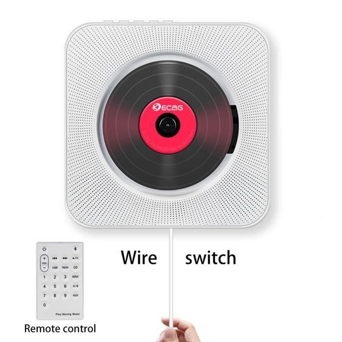 Lecteur CD enfant,2019 lecteur CD mural Bluetooth Portable maison Audio Boombox avec télécommande Radio FM intégré HiFi haut