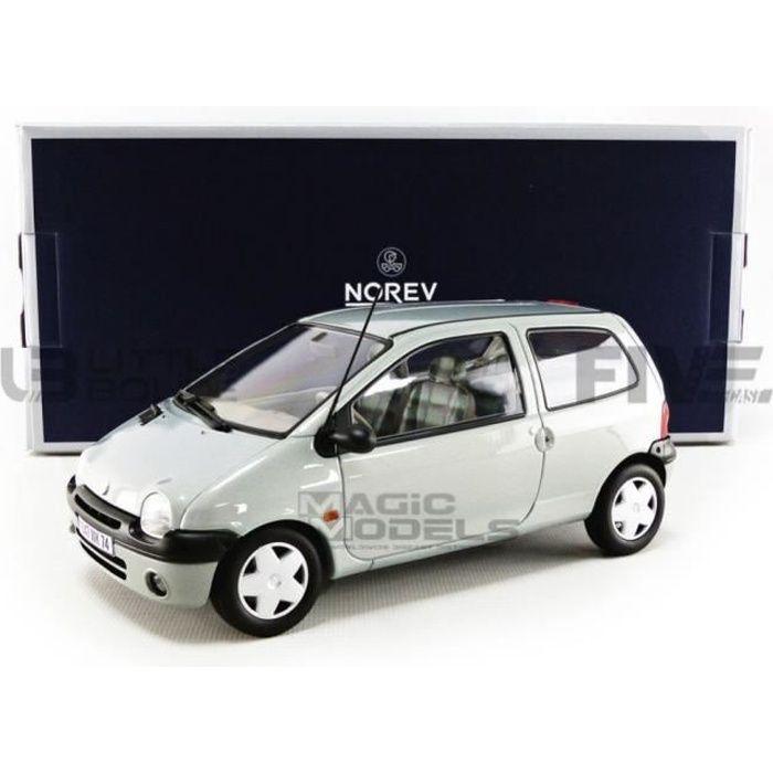 Voiture Miniature de Collection - NOREV 1/18 - RENAULT Twingo - 1998 - Boreal Silver - 185294