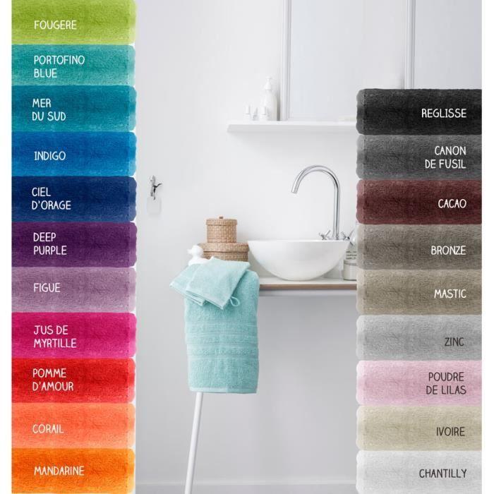 2 gants de toilette - 500 gr/m² - 16 x 21 cm - Today - Zinc