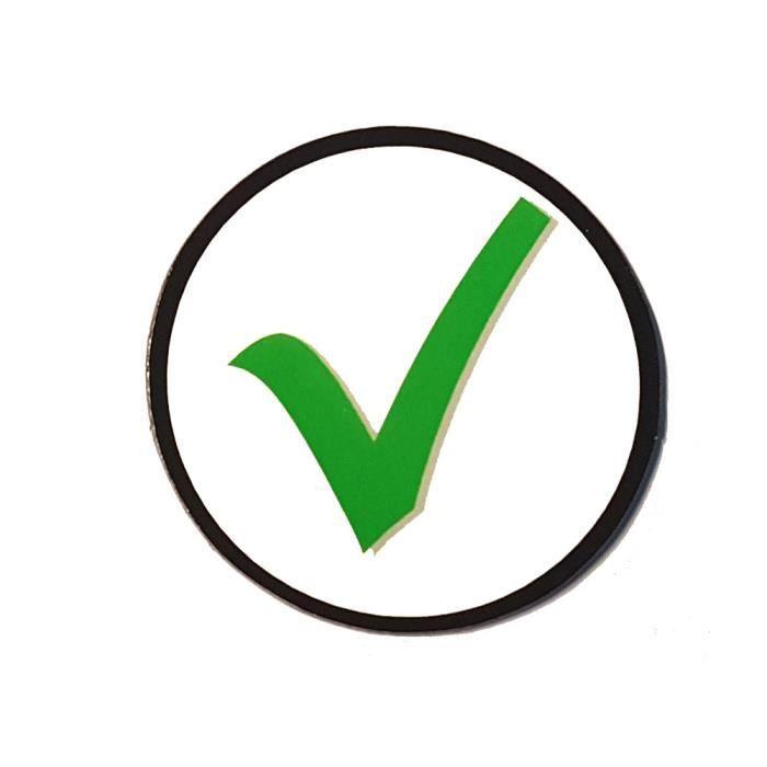 Aimants - Symbole check - Vert - Ø 50 mm – Lot de 10 pièces