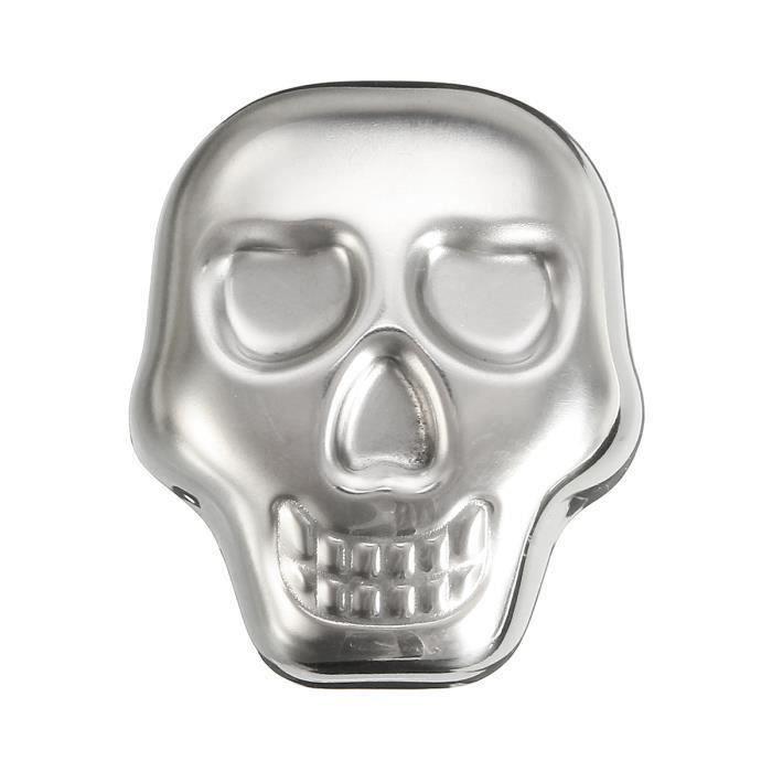Crâne Refroidissement de Vin Whisky Faux Glaçon Inox Refroidisseur Congélation Rapide At20722