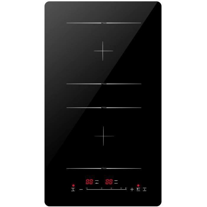 Tables de cuisson Plaque &agrave Induction Double, Encastrable Plaques de Cuisson Induction Portable, 3400W Plaque de Cuisson &E17