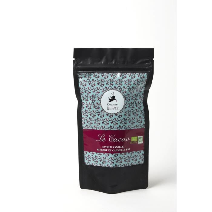 GOURMET IN LOVE Cacao Saveur Vanille, Muscade et Cannelle Zip Pack - 200 g