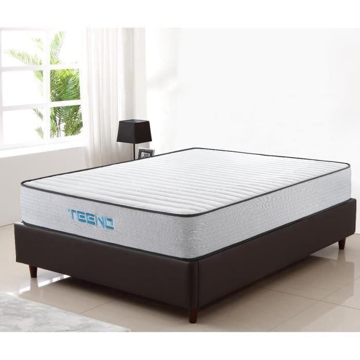 LUXE-Matelas mousse 140x190 - Luxe mousse à mémoire - Confort ferme - Epaisseur 26 cm- IZTOSS