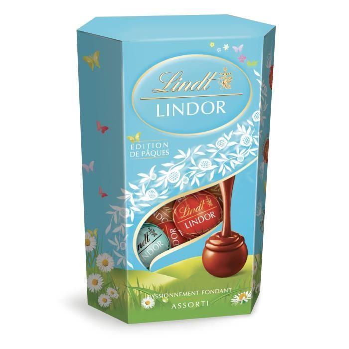 Chocolat Lindt Lindor Assorti Edition de Pâques Cornet 200g
