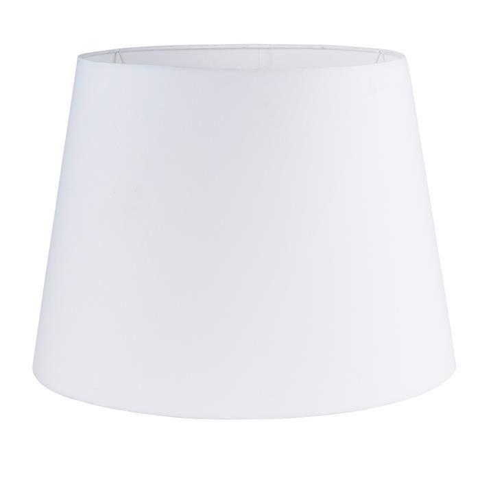 Abat Jour Vendu Seul. MINISUN. Cône de 45 cm. Adapte pour lampe à poser ou suspension. Tissue en blanc