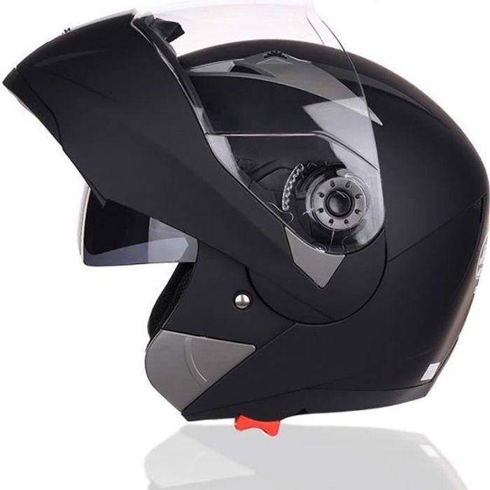 Casque Moto Unisexe de Marque luxe Casque de moto Double lentille de anti-poussière casque Moto intégral de la personnalité