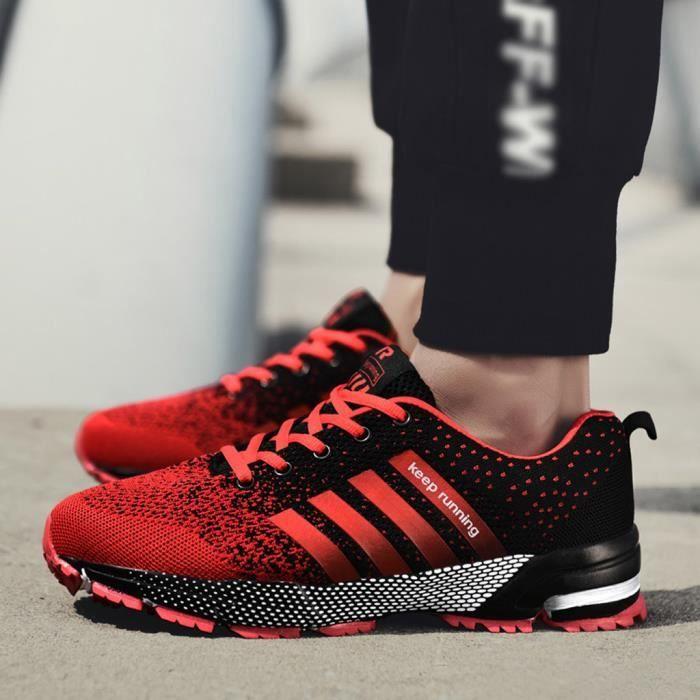CHAUSSURES DE RUNNING - CHAUSSURES D'ATHLETISME Chaussures de course légères et respirantes pour hommes, couple, chaussures de