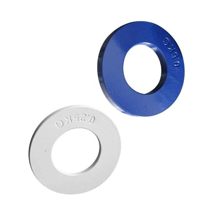 2 Pièces Plaques Fractionnées Olympiques En Acier, Micro 0,25 Kg, Plaque de Poids Fractionnaire 0,5 Kg Disques de Poids Faibles