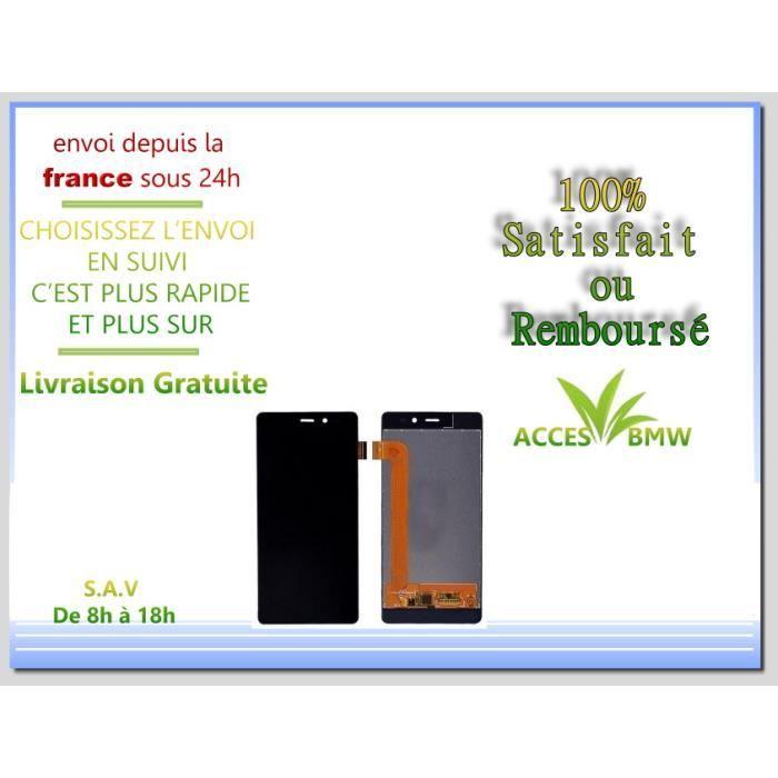 Ecran LCD + Vitre Tactile Wiko Pour Tommy - Noir