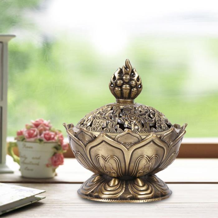 Encensoir Porte-encen Brûleur de cône d'encens Décoration de maison (Bronze)