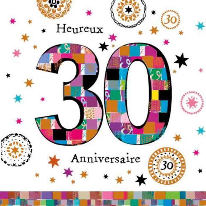Anniversaire 30 Ans Carte Postale 2 Volets Avec Enveloppe Achat Vente Carte Correspondance Anniversaire 30 Ans Carte Cdiscount