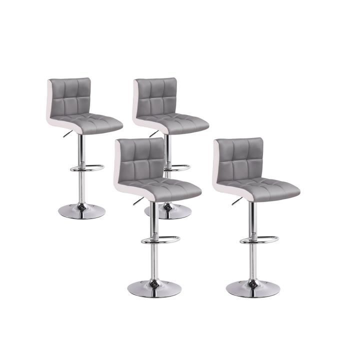 80697e82ea79fc Lot de 4 tabourets de bar Magic Gris - Achat   Vente tabouret de bar Gris -  Cdiscount