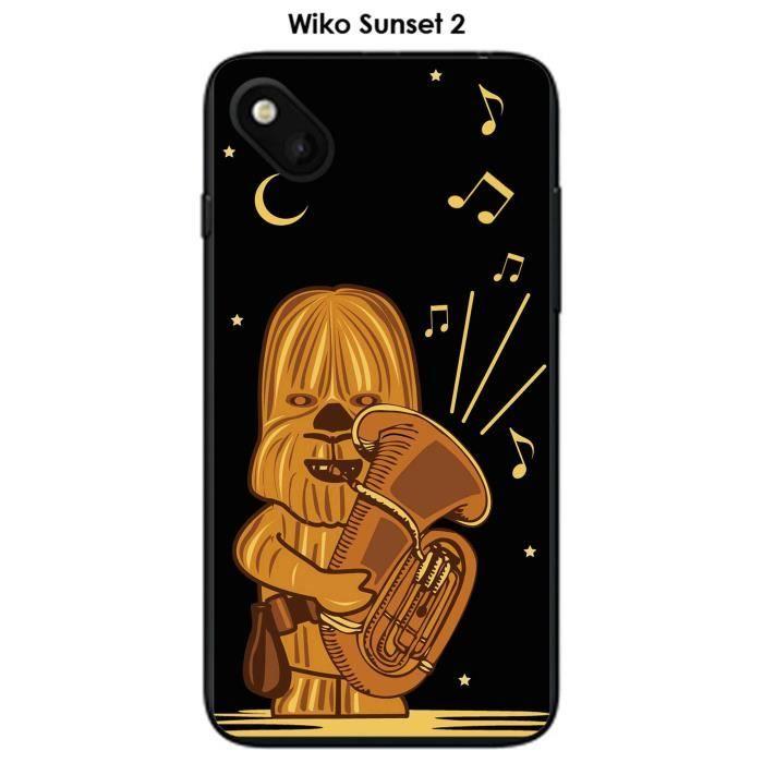 Coque Wiko Sunset 2 design dark-wookie