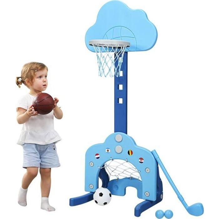 SONGYU des Gamins Ajustable Panier De Basket Portable Support De Basket avec Net and Ball Ext/érieur Int/érieur Ensemble De Jeu De Sport Diam/ètre De lanneau De Panier 25cm