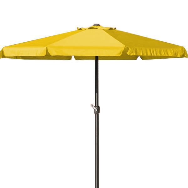 grand parasol jaune manivelle 350cm achat vente. Black Bedroom Furniture Sets. Home Design Ideas