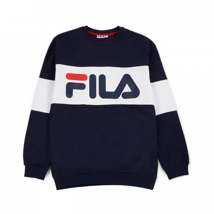 fila sweat shirt straight blocked bleu bleu achat vente sweat shirt de sport cdiscount. Black Bedroom Furniture Sets. Home Design Ideas
