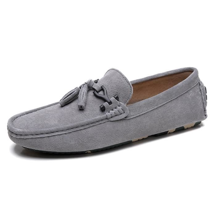 Moccasin femme style chinois Chaussures pour Femmes Antidérapant Moccasins femmes chaussures à plateformes Plus Taille 38-44,gris,38