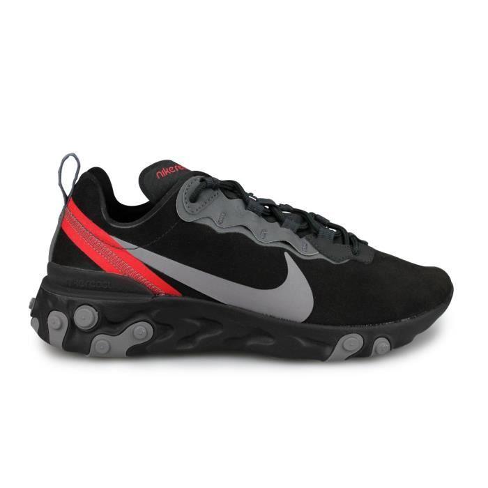 Nike React Element 55 Noir (41) Noir - Cdiscount Chaussures