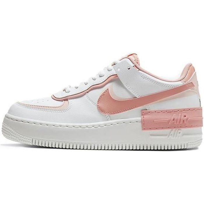 Air force one shadow blanc et rose - Cdiscount