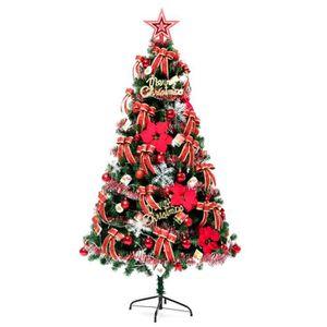 SAPIN - ARBRE DE NOËL 150 cm Sapin de Noël Artificiel Avec décoration or
