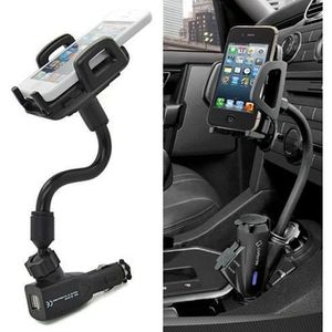 FIXATION - SUPPORT 2 USB Allume Cigare Chargeur de Support Voiture Po