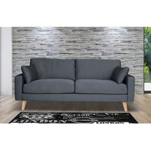 sofa 3 places bois achat vente sofa 3 places bois pas cher cdiscount. Black Bedroom Furniture Sets. Home Design Ideas